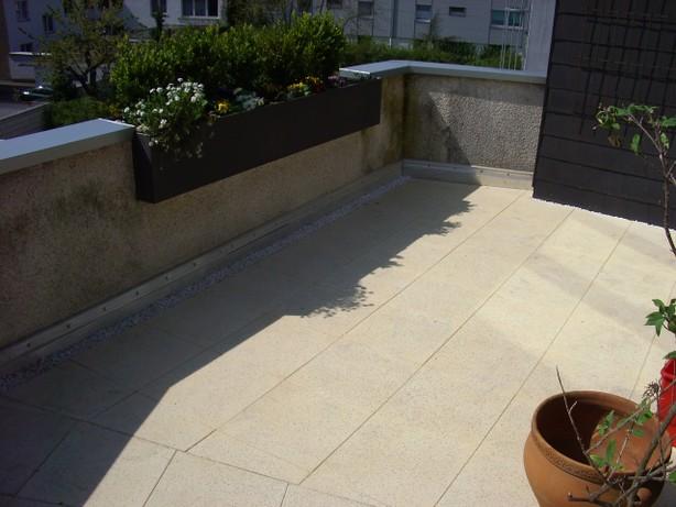 Terrassenplatten verlegen Strewa Bedachungen
